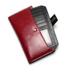 Patentos női pénztárca marhabőrből, 6 színben