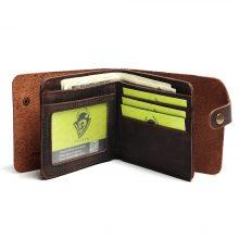 Vintage stílusú, marhabőr férfi pénztárca, 2 színben