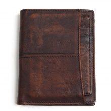 Retro stílusú, marhabőr férfi pénztárca, 2 színben