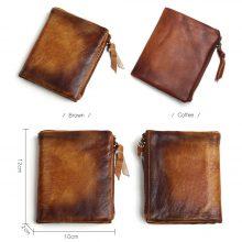 Vintage stílusú férfi pénztárca marhabőrből, 2 színben