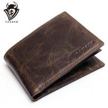 Rusztikus megjelenésű, marhabőr férfi pénztárca