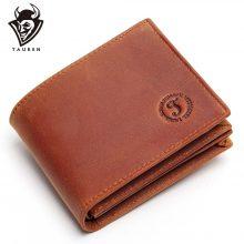 Vintage stílusú férfi pénztárca marhabőrből, barna színben