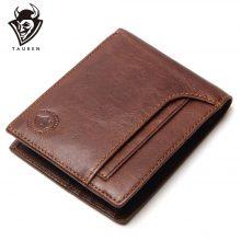 Vintage stílusú férfi pénztárca puha marhabőrből, 2 színben