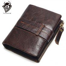 Retro stílusú férfi pénztárca marhabőrből, barna színben