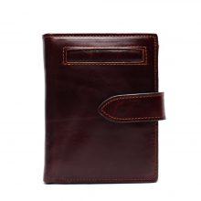 Vintage stílusú, selyembéléses férfi pénztárca marhabőrből, 2 színben