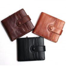 Retro stílusú, marhabőr férfi pénztárca patenttal, 3 színben