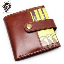Patentos férfi pénztárca marhabőrből, selyem béléssel, 2 színben