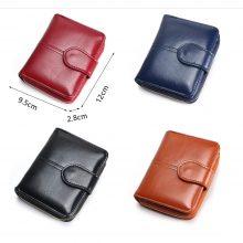 Hagyományos megjelenésű női pénztárca műbőrből, 4 színben