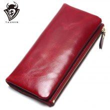 Elegáns, hosszúkás, marhabőr női pénztárca, 6 színben
