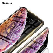 Temperált üvegből készült képernyővédő iPhone készülékekhez, 2 színben
