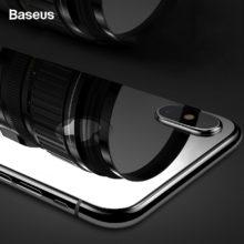 Ultravékony képernyővédő temperált üvegből, iPhone X 9H készülékek számára, 3 színben