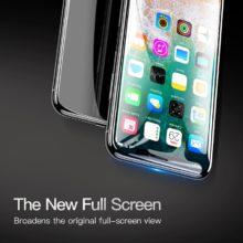 Karcolásgátló, ultravékony képernyővédő temperált üvegből, iPhone X készülékekhez, fekete színben