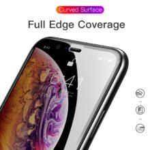Belátásgátló képernyővédő temperált üvegből, iPhone készülékekhez, fekete színben