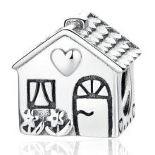 Ezüst házikó charm –  Pandora stílus
