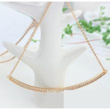 Íves medálos nyaklánc, Pezsgő arany
