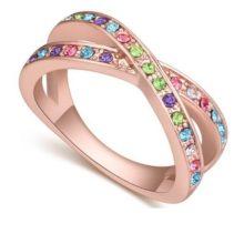 Egyedi karika gyűrű, Multicolor, 7,5