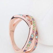 Egyedi karika gyűrű, Multicolor, 6,5