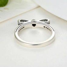 Ezüst gyűrű, masni motívummal, 7-es méret (Pandora stílus)