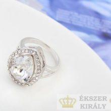 Csepp alakú gyűrű, Kristály, Swarovski köves, 7,5