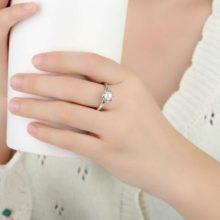 Ezüst gyűrű igazgyönggyel, 8-as méret (Pandora stílus)