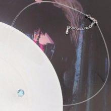 Láthatatlan láncos nyaklánc, Aquamarine, Swarovski köves