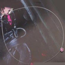 Láthatatlan láncos nyaklánc, Rózsaszín, Swarovski köves