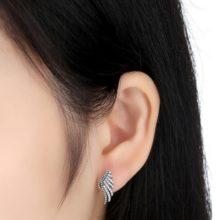 Ezüst főnix-szárny fülbevaló (Pandora stílus)