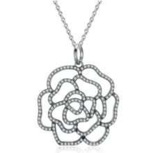 Ezüst rózsa nyaklánc (Pandora stílus)