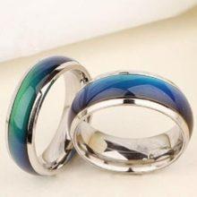 Hangulatgyűrű, karikagyűrű, 8-as méret