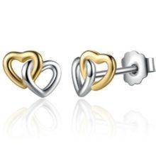 Duplaszív ezüst fülbevaló (Pandora stílus)