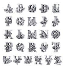 Ezüst K betű charm cirkónium kristállyal –  Pandora stílus