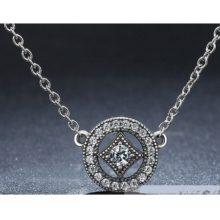 Ezüst nyaklánc vintage függővel (Pandora stílus)