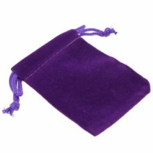 Ékszer zsák, lila, 9×12 cm