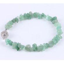 Meditációs karkötő, zöld aveneturin