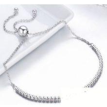 Csillogó ezüst teniszkarkötő (Pandora stílus)