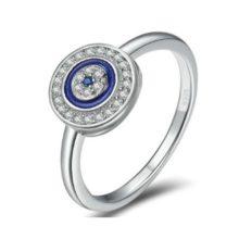 Ezüst gyűrű koncentrikus körökkel, 8-as méret (Pandora stílus)