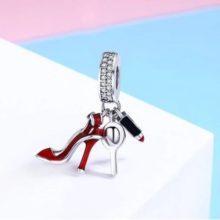 Csajos ezüst charm cirkóniumkristállyal –  Pandora stílus