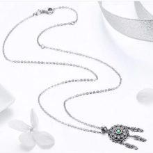 Ezüst nyaklánc álomfogóval (Pandora stílus)