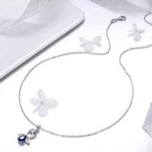 Ezüst nyaklánc őrangyallal (Pandora stílus)