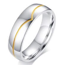 Rozsdamentes acél férfi karikagyűrű, 11-es méret