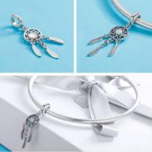 Ezüst álomfogó charm színes cirkóniumkristállyal –  Pandora stílus