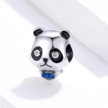Ezüst charm, panda –  Pandora stílus