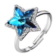 Csillag köves gyűrű, Kék