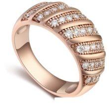 Divatos karika gyűrű, Pezsgő arany  , 7,5