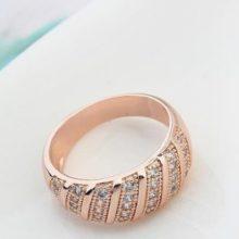 Divatos karika gyűrű, Pezsgő arany  , 8,5
