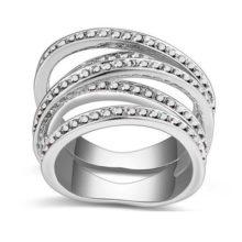 5 sávos gyűrű, Jet fémes ezüst, 6,5