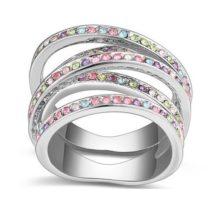 5 sávos gyűrű, Multicolor, 7,5