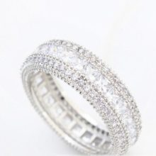 Elegáns karika gyűrű, 7,5