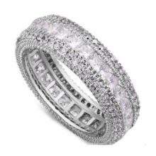 Elegáns karika gyűrű, 8,5