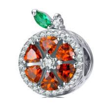 Ezüst charm, grapefruit –  Pandora stílus
